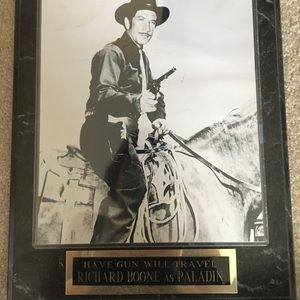 Have Gun Will Travel Plaque. Jack Palance.